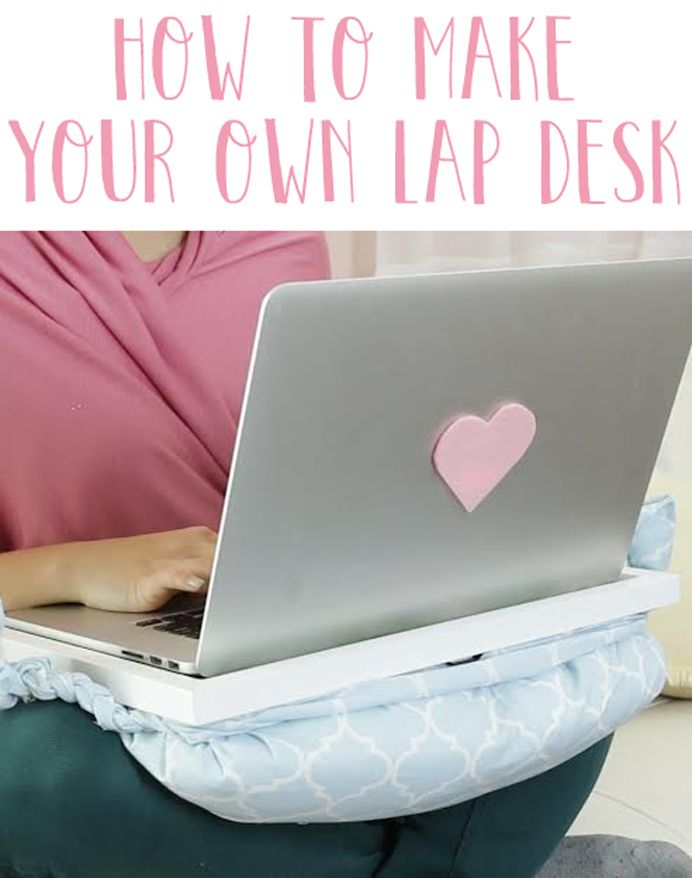 Make your own lap desk out of an old pillow
