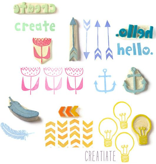 Etsy Take Five Tuesday by decor8 | rubber stamps by Creatiate    http://www.etsy.com/shop/creatiate