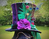 Hand Made Mad Hatter Top Hat. Bespoke. Made To Order. One Of A Kind. Wonderland Costume. Fancy Dress.