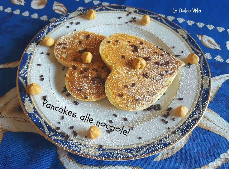 #Pancakes alle #nocciole con #nutella!