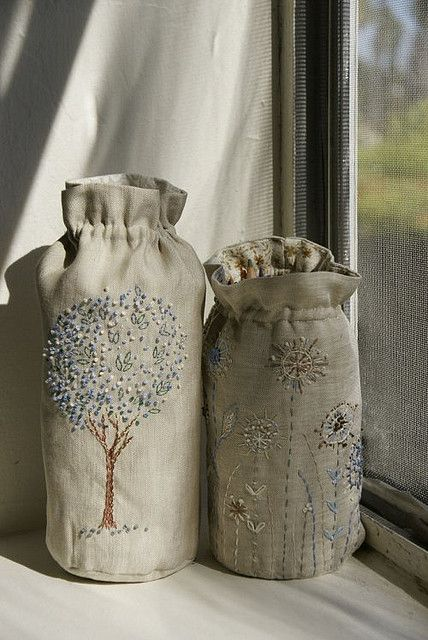 bags - these would make lovely gifts with something home made in them