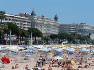 Love to Eat & Drink? How about a Food & Wine Theme Cruise?: Hotel Carlton and French Riviera Beach at Cannes, France