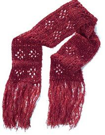 Pretty crochet scarf. I haven't crocheted in years  but I might have to try this if I can remember how. Have no idea if I even have a crochet hook anymore.