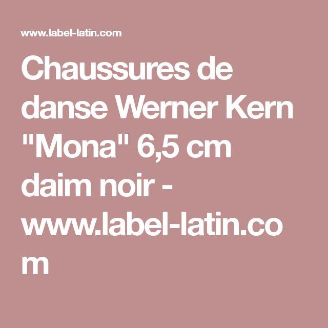 "Chaussures de danse Werner Kern ""Mona"" 6,5 cm daim noir - www.label-latin.com"