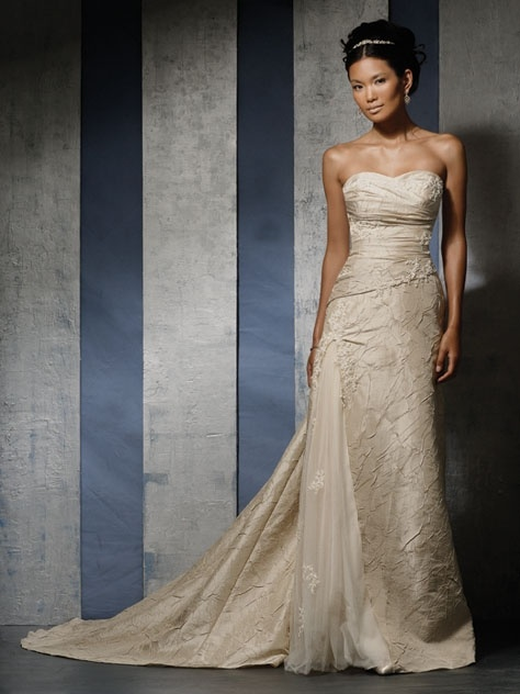 Champagne colored wedding dresses pictures