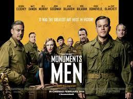 George CLOONEY, Monument Men,  USA, 2014.  Con George Clooney, Matt Damon, Bill Murray, John Goodman, Jean Dujardin. Interessante storia tra ironia, bellezza e lacrime