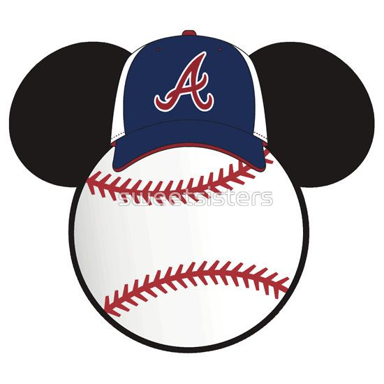 Atlanta Braves Mickey Mouse baseball