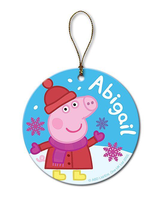 Peppa Pig Snowflake Personalized Ornament