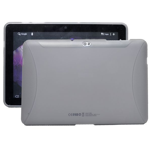 TPU Muovinen (Harmaa) Samsung Galaxy Tab 10.1 P7500 Suojakuori