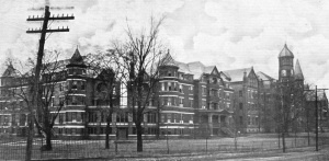 The Industrial Institute and College of Mississippi, Columbus, MS, was founded in 1884 as the first public college for women.  The name was changed to Mississippi State College for Women in 1920 and to Mississippi University for Women in 1974.