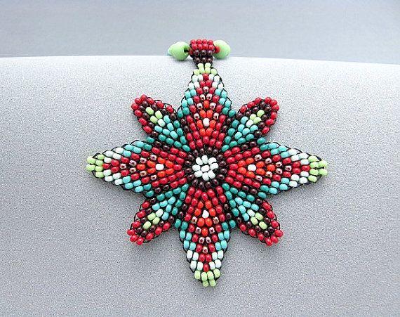 Semilla con cuentas collar de Mandala. Cuatro por HANWImedicineArt