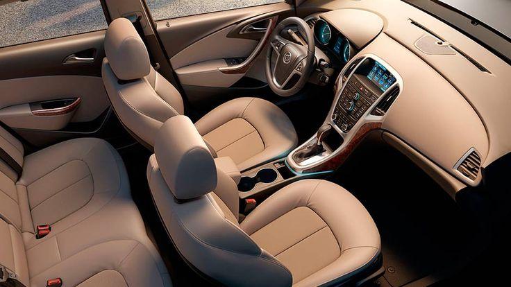Overhead view of the 2016 Buick Verano small luxury sedan's spacious and comfortable interior.