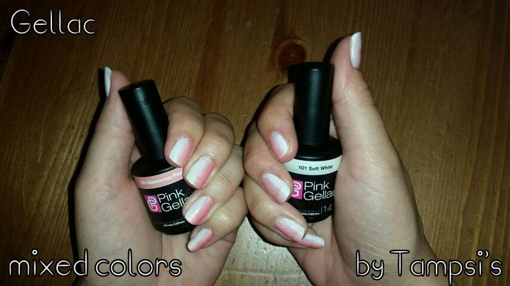 Mixed colors from Pink Gellac on Kelly Hijstek's nails by Tampsi's