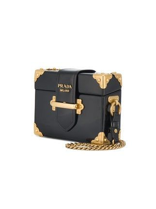 8d1332c13109 Prada Black Cahier Mini Patent Leather Box bag | I want... in 2019 ...