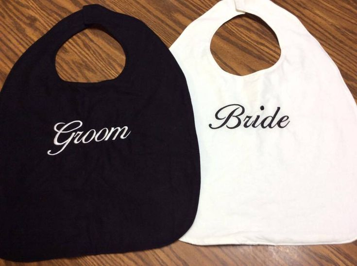 Couples Clothing Protectors, Bridal Shower Gift, Gag Gift, Groom Gift, Bachelor Gift, Wedding Clothing Protector, Personalized Adult Bib by Crafting4Caleb on Etsy https://www.etsy.com/listing/236556739/couples-clothing-protectors-bridal