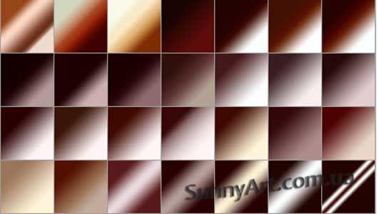 Градиенты – оттенок кофе — Различные PSD, PNG файлы для фотошопа