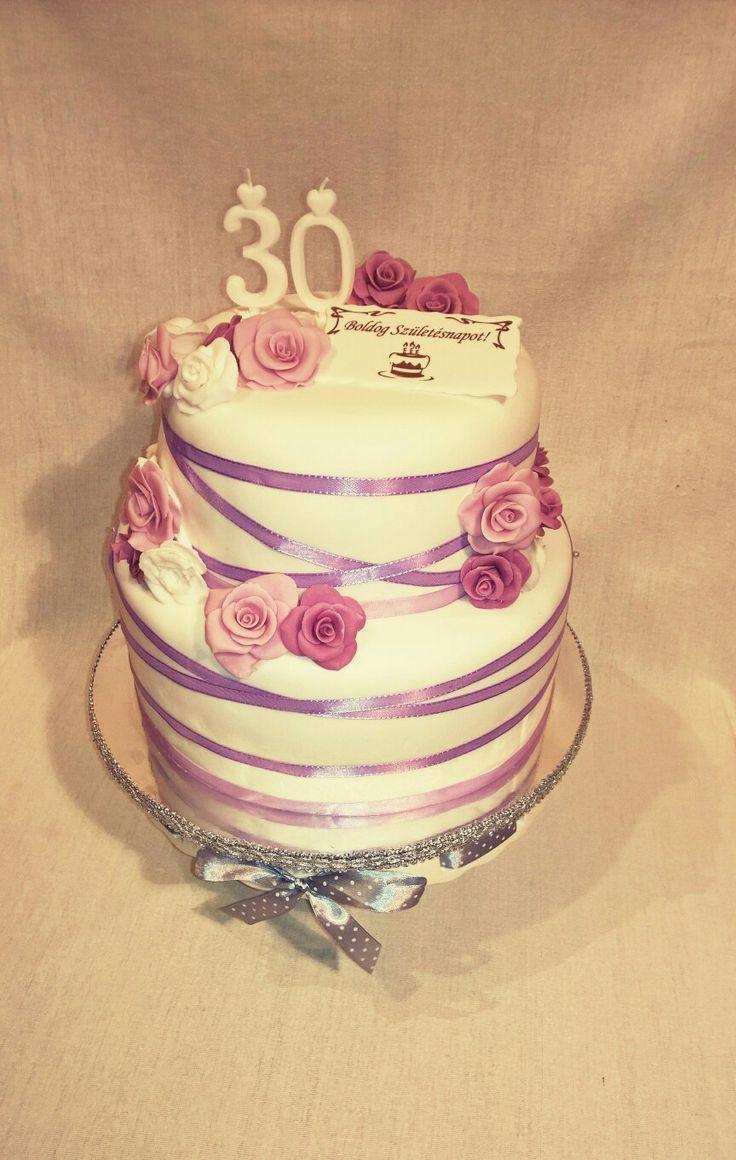 Fondant Cake#Rose#Birthday#