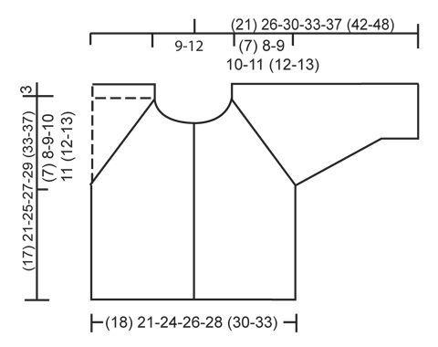Sleep Tight / DROPS Baby 25-33 - DROPS raglánový kabátek pletený vroubkovým vzorem z příze