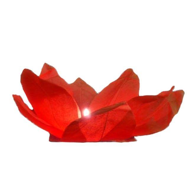 Rote Wasserlaternen in Seerosen-Form