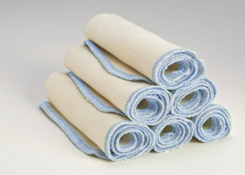 Organic Cloth Paper Towels Cleaning Cloth - Set of 6 17x17 in Light Blue Visit the image link more details.