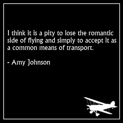 quote from Amy Johnson about flying