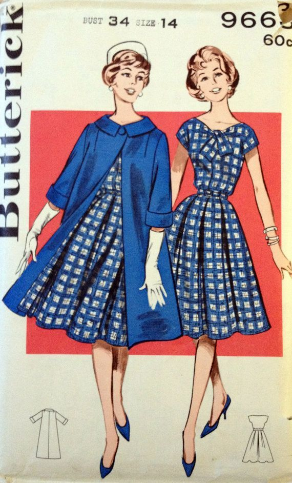 butterick sewing patterns | 1950s' Butterick 9663 Vintage Sewing Pattern by ItSeamsVintage, $20.00