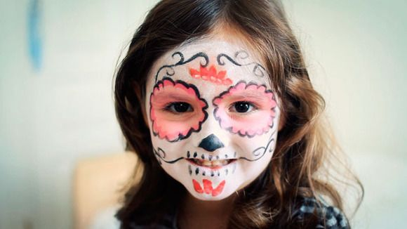 46 mejores im genes sobre eventos d a de los difuntos for Caras pintadas para halloween