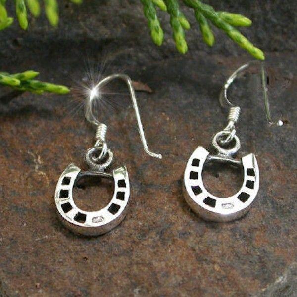 Sterling Silver Elegant Horseshoe Earrings - Sterling Silver - Jewellery