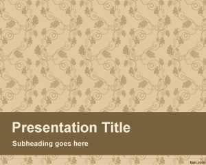 Fresh page PowerPoint Template is a simple PowerPoint template with flowers and sepia background