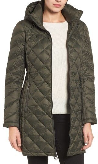 MICHAEL Michael Kors Women's Logo Packable Puffer Coat With Detachable Hood