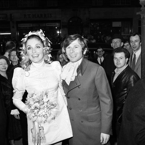 Matrimoni vintage 1960 Londra. Il regista Roman Polanski e Sharon Tate