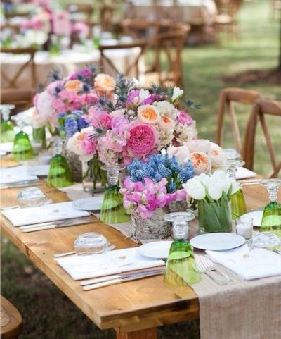Whimsical Outdoor Table Setting for Wedding #bohobride #johnnywas
