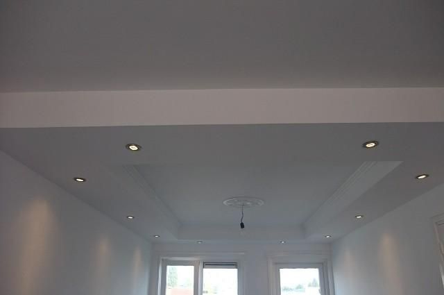 Verlaagd plafond met spots