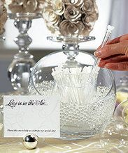 """Wedding """"Love Bubble"""" Wands - Package of 24"""