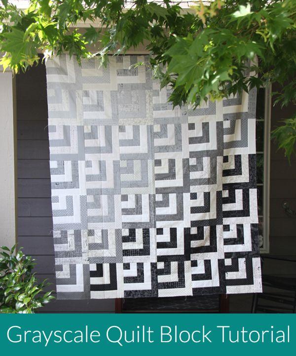 Grayscale Quilt Block Tutorial