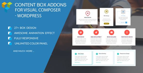 Content Box/Service Box/Features Box/Icon Box Add-ons For WPBakery Page Builder (Visual Composer)