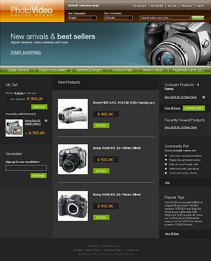 Photo & Magento Themes by Cowboy