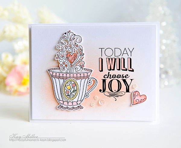 Choose Joy Card by Kay Miller for Papertrey Ink (August 2016)