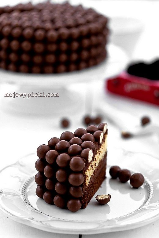 Double Chocolate Cake w Malteserami and Coffee Cream Chocolate ♥