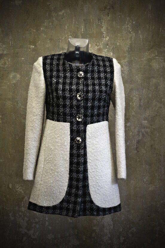 Cappotto in lana Con bottoni vintage AriannaBiondoDesigner