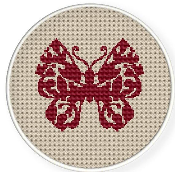 Buy 4 get 1 free ,Buy 6 get 2 free,Cross stitch pattern, PDF,Butterfly  pattern ,ZXXC0167. $4.00, via Etsy.