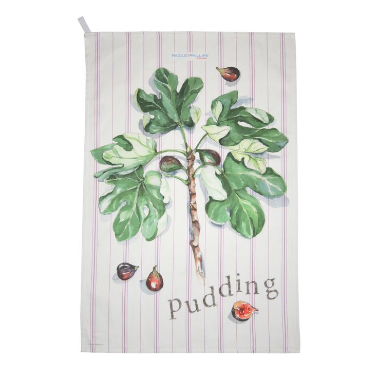 Nicole Phillips England artisan Figgy Pudding Tea Towel. Nicole Phillips designs and makes beautiful fine textile ranges that add accents of creativity and colour for your home and kitchen. Designed and made in England to the highest print and quality standards. http://www.nicolephillips.com/collections/tea-towels/products/figgy-pudding-tea-towel #christmas