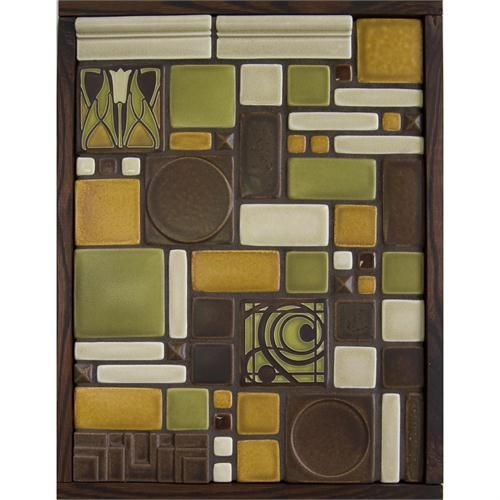 Olive Tile Quilt Mural by Motawi Tileworks on HomePortfolio