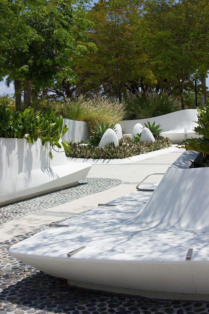 Modern gardens at Perez Art Museum in Miami
