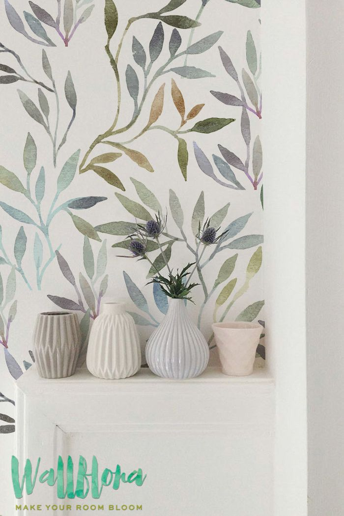 DESCRIPTION Transform any room in your home into a floral paradise with this self-adhesive wallpaper! This vinyl wallpaper features a watercolour print of leave