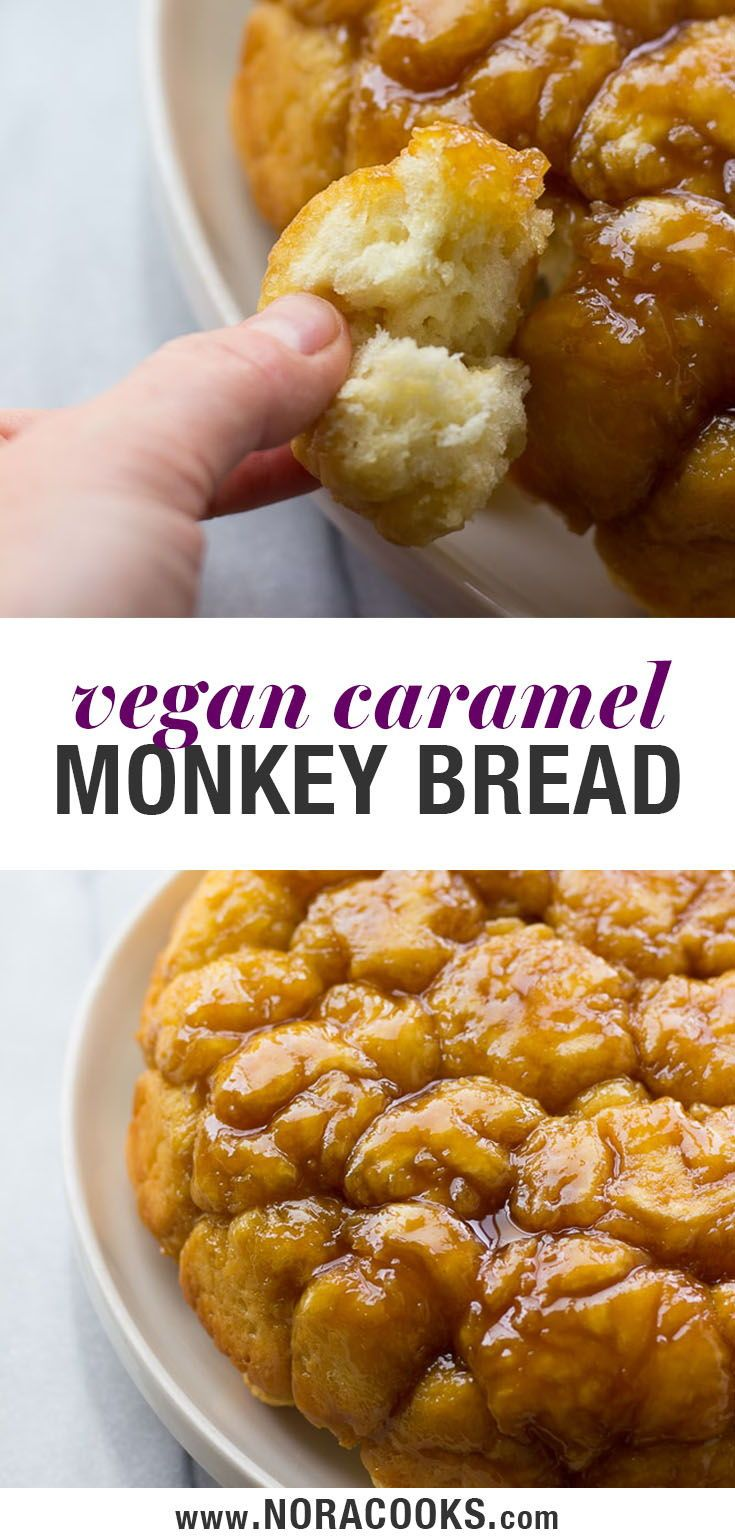 Vegan Caramel Monkey Bread! Gooey, sweet, fluffy h…