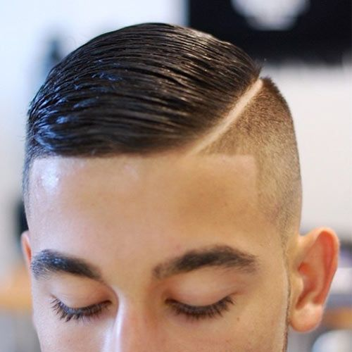 #Combover with a hard part and line up.