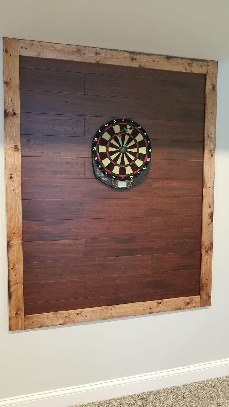 Diy dart board backer 1x4 distressed white pine frame