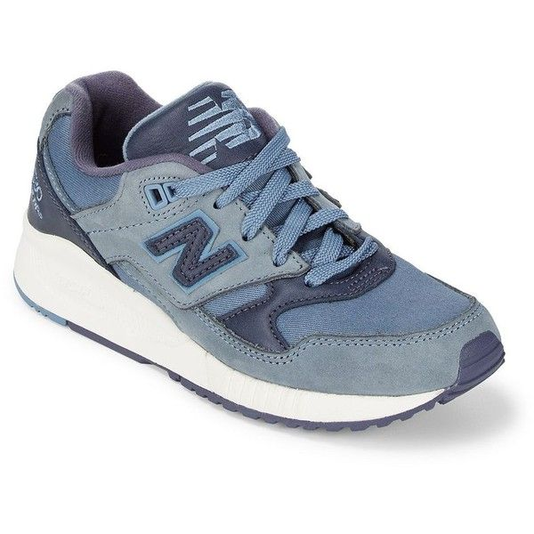 New Balance 416 Suede Lace-Up Sneakers (€50) ❤ liked on Polyvore featuring shoes, sneakers, new balance sneakers, suede lace up shoes, new balance shoes, blue sneakers and laced up shoes