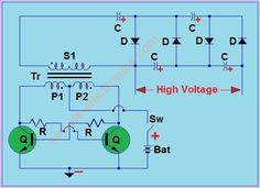 Mosquito Racket Circuit   simple electronics